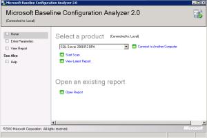 Microsoft Baseline Configuration Analyzer 2.0