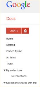 Google Docs Upload Button